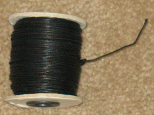 Cotton Waxed Cord 1.0 mm 100 yds